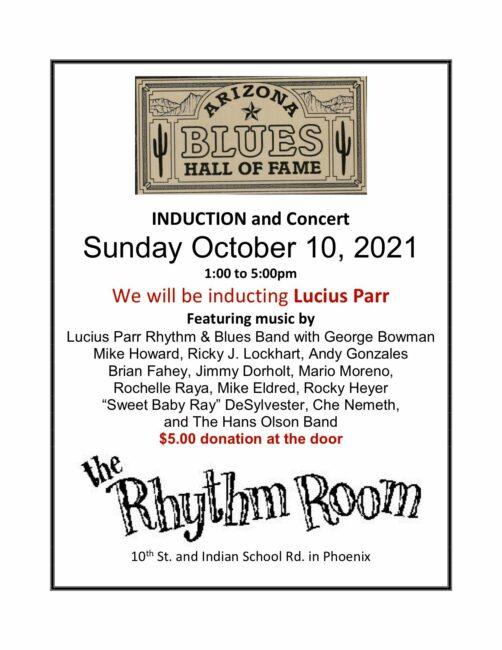 Arizona Blues Hall of Fame Induction